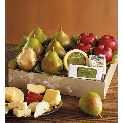 Pears, Apples and Cheese Gift