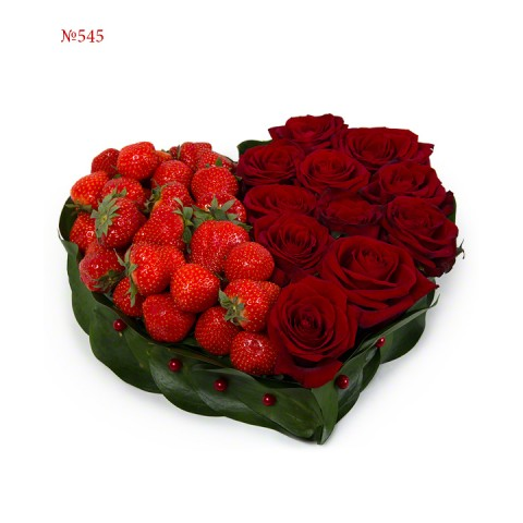 Strawberry and roses
