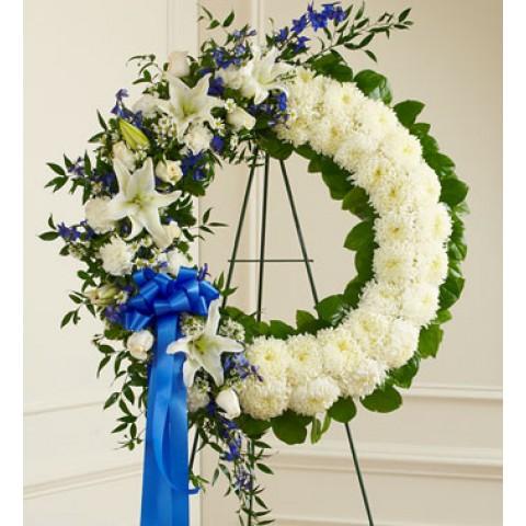 Serene Blessings Blue&White