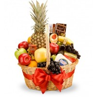 Connoisseur Fruit and Gourmet Basket