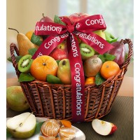 Congratulations Fruit Gift Basket