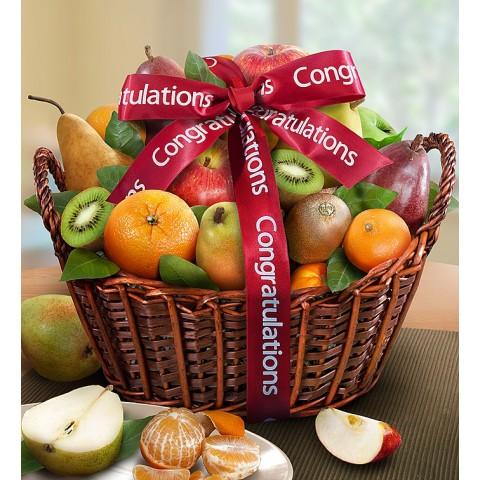 Congratulations Fruit Gift Basket