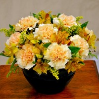 Persian Yellow Carnation Bouquet