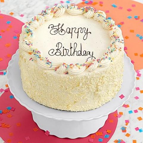 Vanilla Bean Happy Birthday Cake