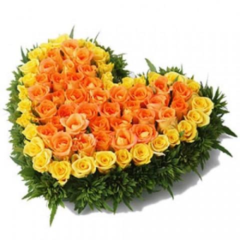 Yellow & Orange Roses